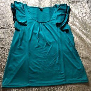 Women's teal tank type shirt blouse